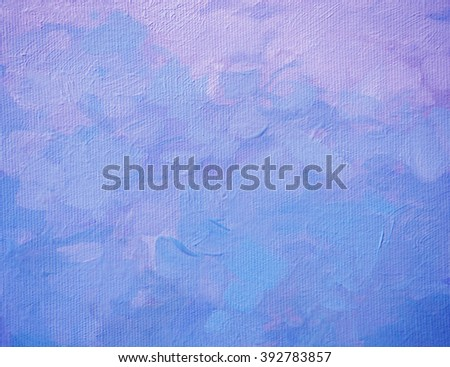 abstract violet composition, painting by oil on canvas, background, illustration - stock photo