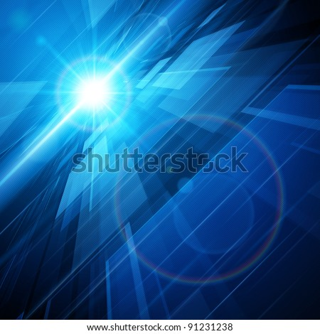 Abstract virtual space with background. Raster version. - stock photo