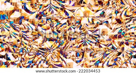 abstract vivid blue and yellow distorted background - stock photo