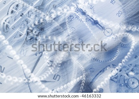 abstract wallpaper maded from watces, stopwatches and other - stock photo