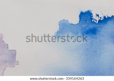 Abstract  water color art background hand paint on white background - stock photo