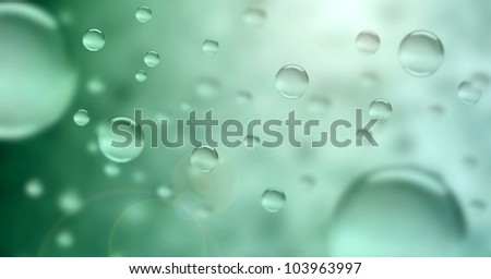 Abstract water drops - stock photo