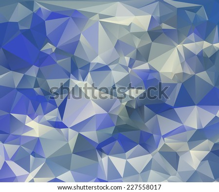 Abstract water triangular pattern - raster version - stock photo
