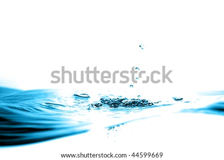 ABSTRACT WATER WAVE BACKGROUND - stock photo
