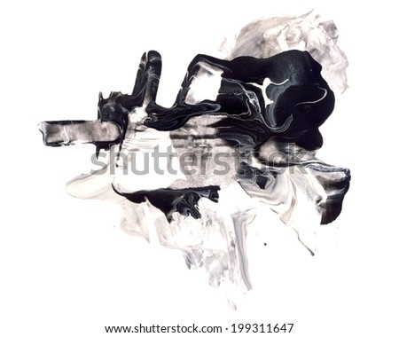 Abstract watercolor and mixed media design element isolated on white. Great texture or background for your projects - stock photo
