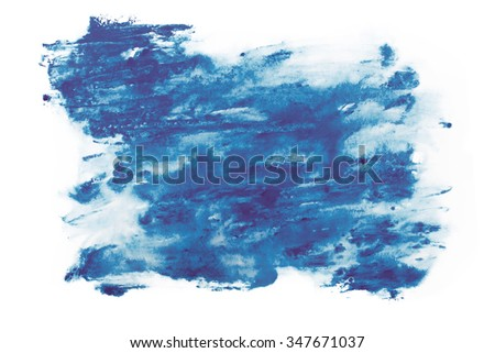 Abstract watercolor aquarelle paint hand drawn colorful splatter stain. - stock photo