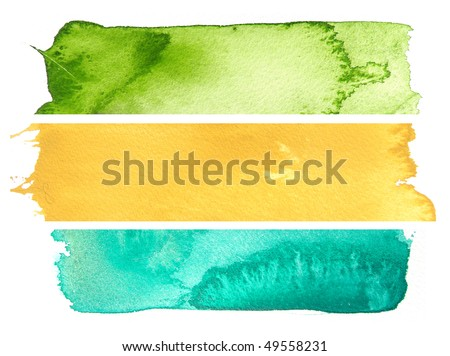 Abstract watercolor background design banners - stock photo