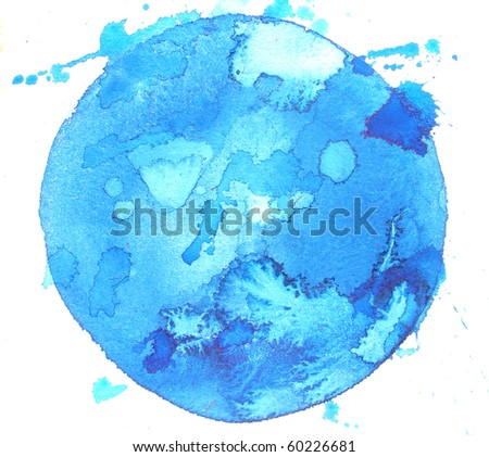 abstract watercolor background design circle splatters - stock photo