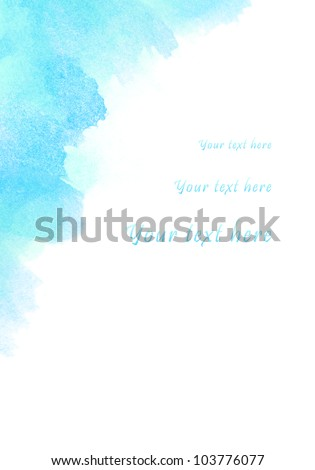 Abstract watercolor background, for your text here - stock photo