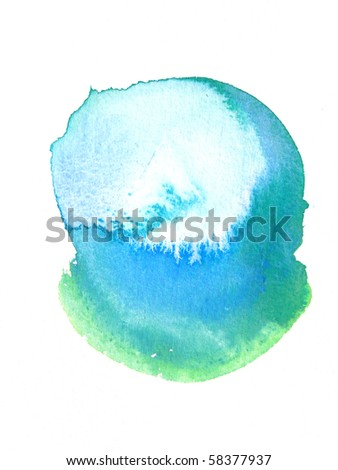 abstract watercolor background shape design - stock photo