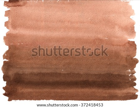 abstract watercolor brown background - stock photo