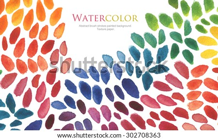Abstract watercolor brush strokes painted background. Texture paper. - stock photo