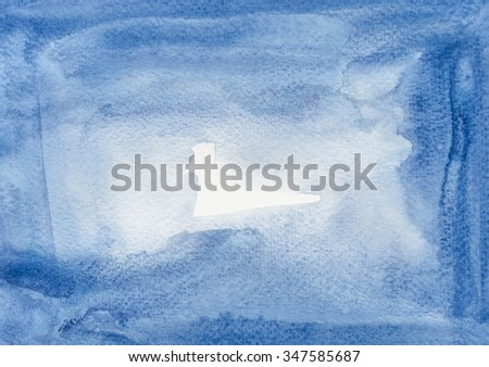 Abstract watercolor brushed texture background. - stock photo