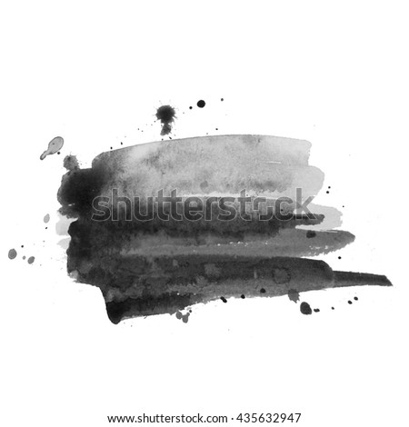 Abstract watercolor grayscale gradient background. Grunge texture for cards and flyers design. A model for the creation of digital brushes - stock photo