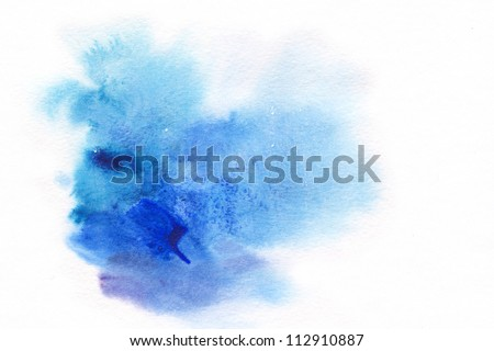 "Abstract watercolor hand painted background. Album   ""Abstract watercolor hand painted background"". ""Winter backgrounds"". - stock photo"