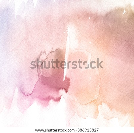 Abstract watercolor hand painted background. . Rose Quartz Tint Watercolour Texture. Pastel Colored Palette. - stock photo