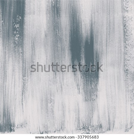 Abstract watercolor hand painted brush strokes. Vertical striped background. Grey and white brush strokes. - stock photo