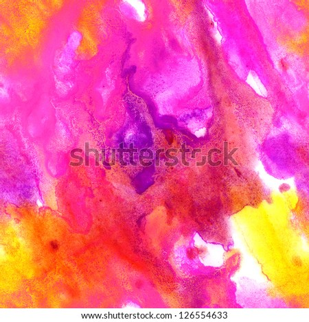 Abstract watercolor hand painted seamless background pattern in pink colors - stock photo