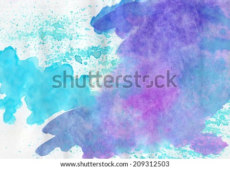 Abstract watercolor   multicolored  background  for scrapbooking and other  design. Can be used for design cards,  books, covers, templates - stock photo