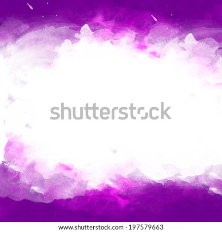 Abstract watercolor on white background - stock photo
