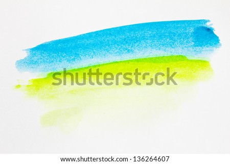 Abstract watercolor painted background with summer concept - stock photo