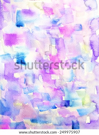 Abstract Watercolor Painting Background. Watercolor Artwork. Purple Watercolor Abstract Art - stock photo