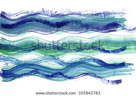 Abstract Watercolor Stripes - stock photo