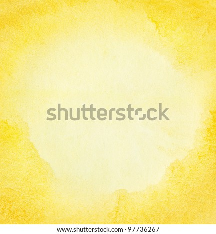 Abstract watercolor sun on paper texture - stock photo