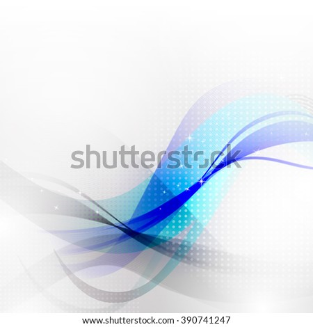 Abstract wawes background. Illustration concept design for brochure or flyer - stock photo