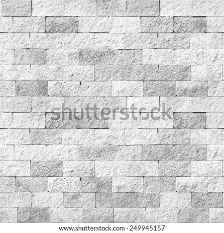 Abstract weathered seamless texture stained old stucco light gray and aged paint white brick wall background in rural room, grungy rusty blocks of stonework technology. High resolution white brick - stock photo