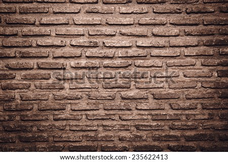Abstract weathered texture stained old stucco light gray and aged paint vintage brick wall background in rural room, grunge rusty blocks of stonework technology color horizontal architecture wallpaper - stock photo