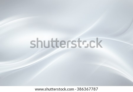 abstract white background with smooth wavy lines - stock photo