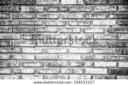 Abstract white brick wall background. - stock photo