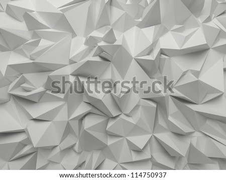 abstract white crystallized background - stock photo