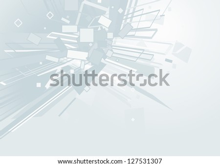 Abstract white space. Vector background - stock photo