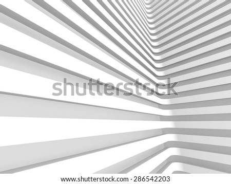 Abstract White Wall Architecture Background. 3d Render Illustration - stock photo