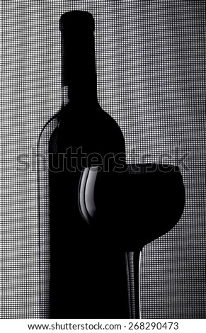 Abstract wine glassware . - stock photo