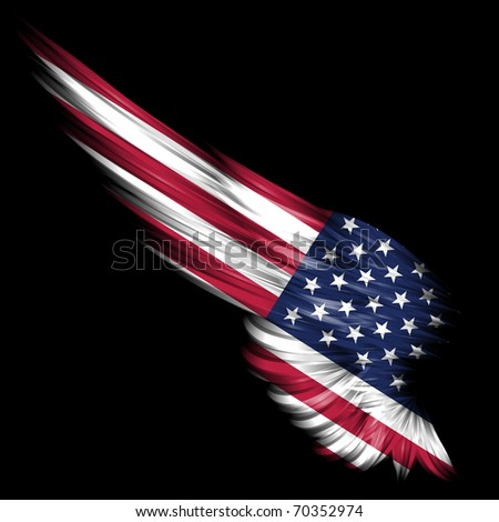 Abstract wing with american  Abstract American Flag Art