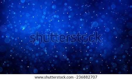 Abstract winter background with snowflakes pattern toned blue. - stock photo