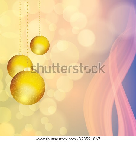 Abstract winter blue yellow snowflakes background   - stock photo