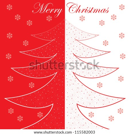 Abstract winter Christmas background with ball - stock photo