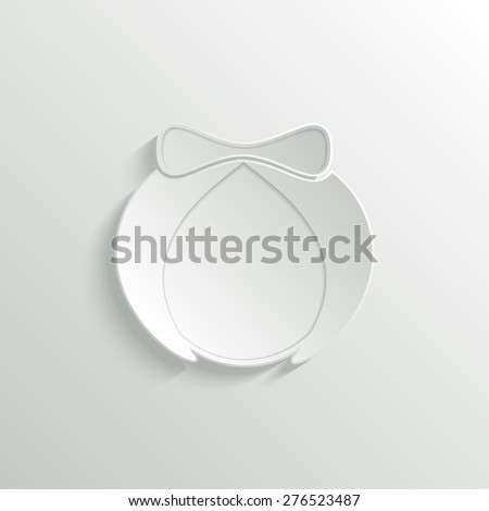 Abstract woman 3D paper icon. Avatar. Gender icon. raster version illustration. - stock photo