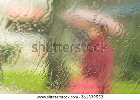 abstract woman in the rain  - stock photo