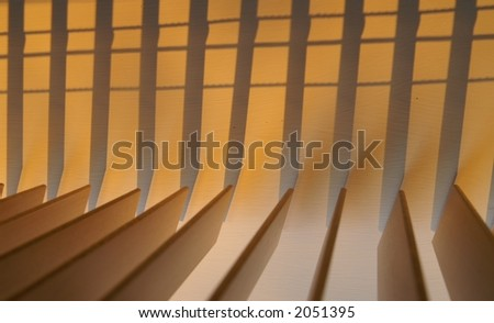 Abstract wooden venetian blinds - stock photo
