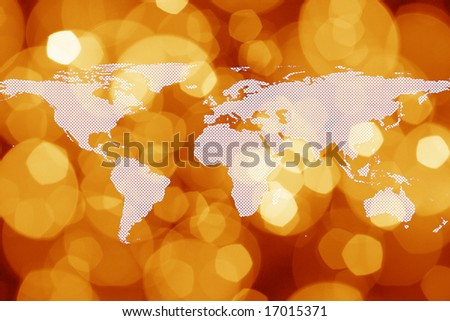 Abstract world map. Map backgrounds. - stock photo