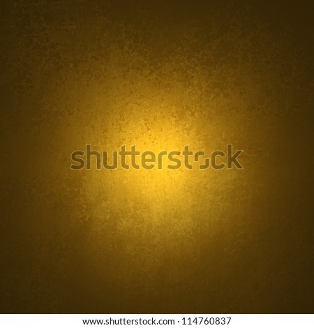 abstract yellow background black vignette frame on border of vintage grunge background texture with old faded edges and center spotlight for elegant gold Christmas background or web template backdrop - stock photo