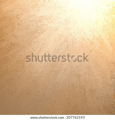 abstract yellow background, bright gold sunshine or spotlight color splash in corner - stock photo