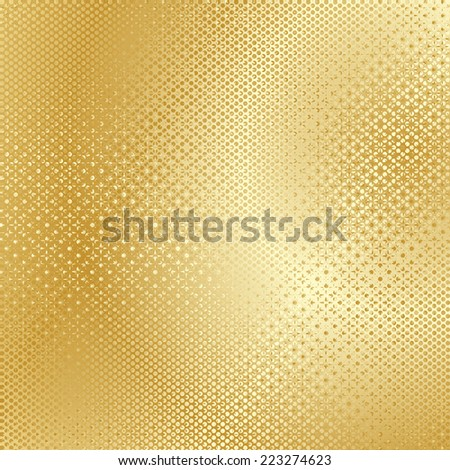 abstract yellow floral pattern golden gay texture background. raster illustration - stock photo