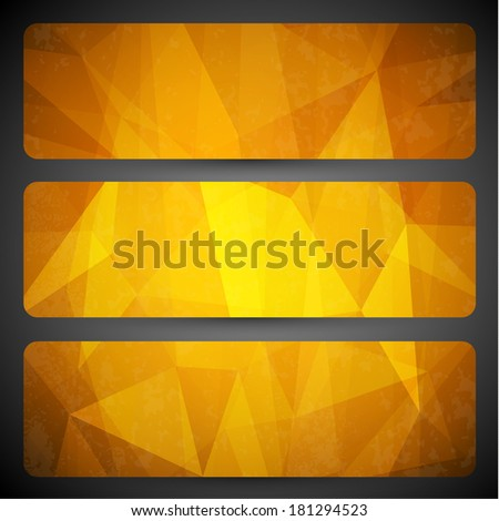 Abstract yellow geometric background  -  raster version - stock photo