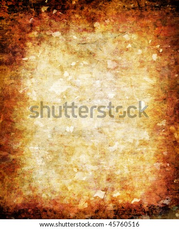 abstract yellow grunge background for multiple uses - stock photo